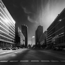 Potsdamer Straße by Rói Heinason - City,  Street & Park  Street Scenes ( platz, straße, postdamer, architecture, berlin )