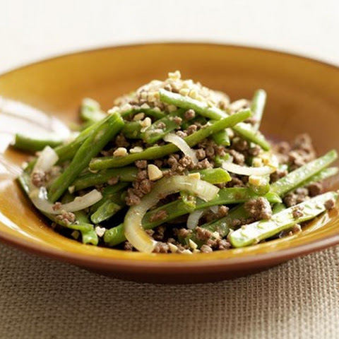 Chinese Minced Beef And Spicy Green Beans