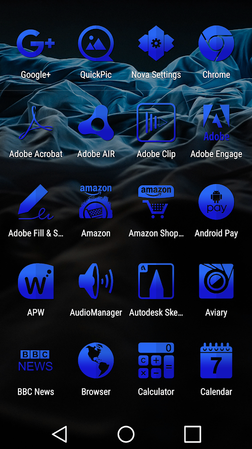 Tap Blue - Icon Pack Screenshot 7