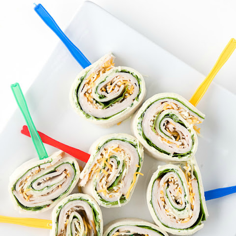 Smoked Turkey Spinach Pinwheels with fresh Herb Cream Cheese