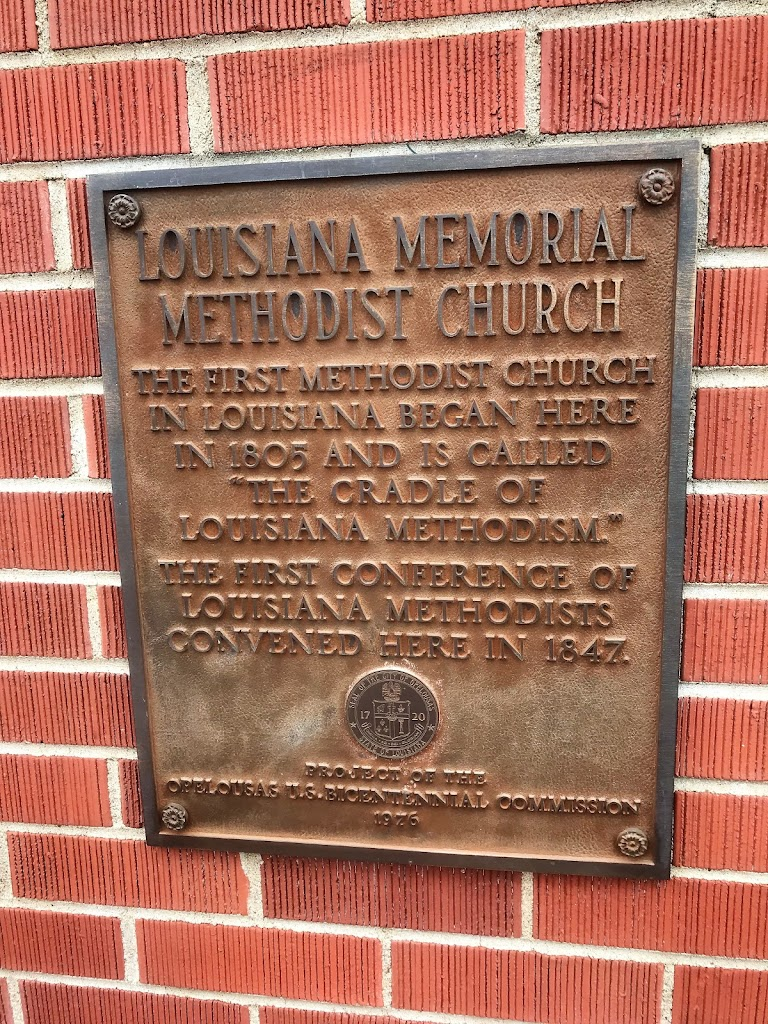 The first Methodist Church in Louisiana began here in 1805 and is called