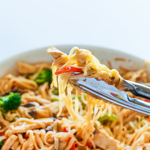 30-Minute Chicken Rice Noodle Stir-Fry