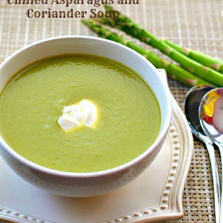 Chilled Asparagus and Coriander Soup