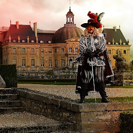 Vaux castle and the Musketeer by Gérard CHATENET - City,  Street & Park  Historic Districts