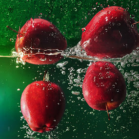 Four Red Apple by Jovi Photograph - Artistic Objects Other Objects