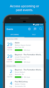 Ticketmaster Ticker screenshot for Android