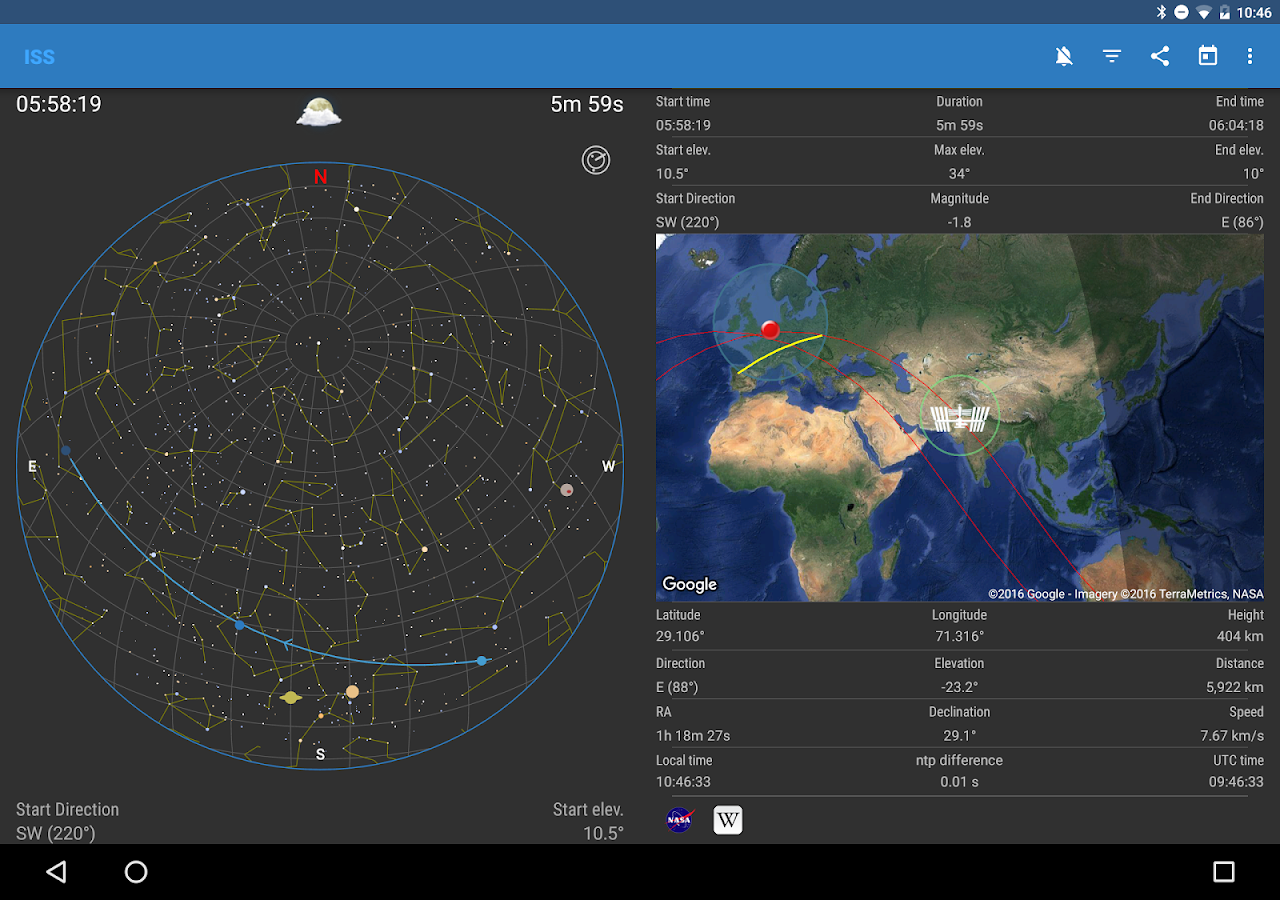 ISS Detector Satellite Tracker Screenshot 6