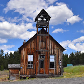 Granite School house by Elizabeth McKechnie - Buildings & Architecture Decaying & Abandoned ( school house, history, granite oregon, mining town, ghost town )