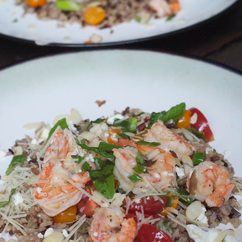 Lemon Shrimp & Cherry Tomatoes with Wild Rice