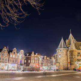 by Marcel Eringaard - City,  Street & Park  Historic Districts ( nikonshooter, night photography, night scene, amsterdam photographer, amsterdam, nikon, nikon marz photography, marz photography, nightscape,  )