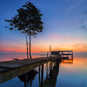 Morning colour by Lb Chong Jacobs - Landscapes Waterscapes