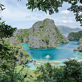 A Peek at Paradise by Geb Bunado - Landscapes Beaches ( coron, beach, travel, kayangan lake, palawan, philippines )