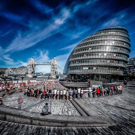 by Aamir DreamPix - Buildings & Architecture Office Buildings & Hotels ( uk, building, hall, riverside )