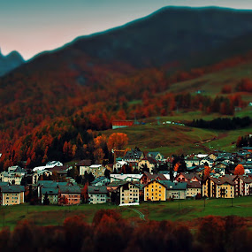 The village by Lilian Iatco - Landscapes Travel ( mountains, autumn, colors, travel, mini, relax, tranquil, relaxing, tranquility )