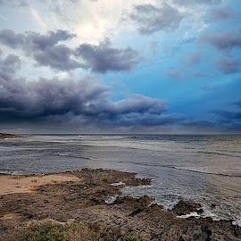 Storm by Greg Tennant - Landscapes Beaches ( ocean, rocks, beach, clouds, sea )