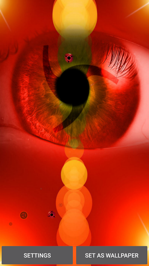 Sharingan Live-Hintergrund – Screenshot