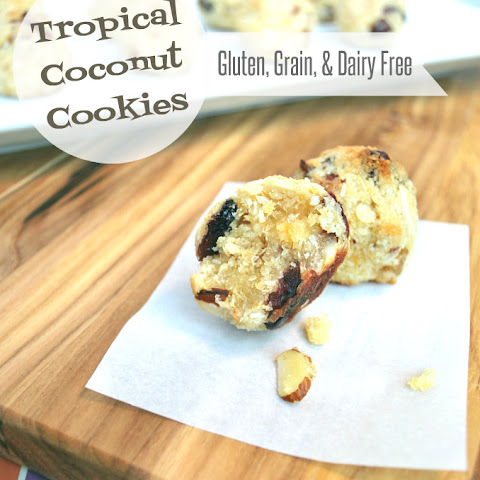 Tropical Coconut Cookies {Gluten, Grain, & Dairy Free}