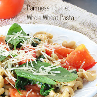 Parmesan Spinach Whole Wheat Pasta