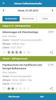 Screenshot of Mensa Braunschweig