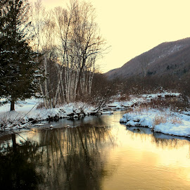 Morning Light by Judy Laliberte - Novices Only Landscapes ( water, mountains, snow, reflections, light )