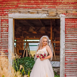 Kalle Bridal Photography by Elizabeth Loera - Wedding Bride ( idaho, grace, bridal, barn, overgrown, wedding, photography )