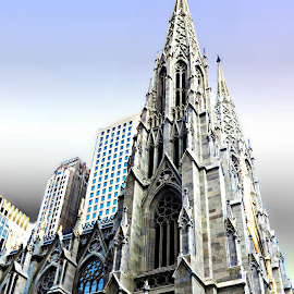 St. Patrick's Cathedral - NYC by Tricia Scott - Buildings & Architecture Places of Worship ( st patrick's cathedral, building, sky, church, manhattan, architecture, nyc, worship )