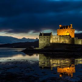 Eilean Donan Castle by Sandra Cockayne - Buildings & Architecture Public & Historical ( scotland, building, eilean donan castle, scottish castle, eilean donan, sandra cockayne, iconic building, sandi cockayne, scottish, castle, the highlands, iconic castle )
