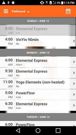 Elemental Hot Yoga Screenshot