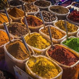 Colourful spices , Anjuna flea market,Goa ,India by Amrita Bhattacharyya - Food & Drink Ingredients