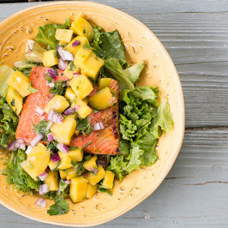 Seared Salmon with Mango Salsa Salad