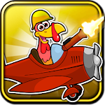 Crazy Turkey Run Shooting Game Icon