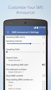 App Speaking SMS & Call Announcer apk for kindle fire
