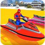 Superheroes Jet Ski Stunts: Top Speed Racing Games For PC / Windows / MAC
