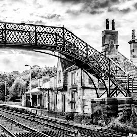 Wylam railway station by Phil Reay - Buildings & Architecture Other Exteriors ( wylam, station, train, tracks )