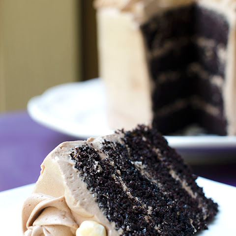 Little Chocolate Layer Cake with Nutella Buttercream Frosting