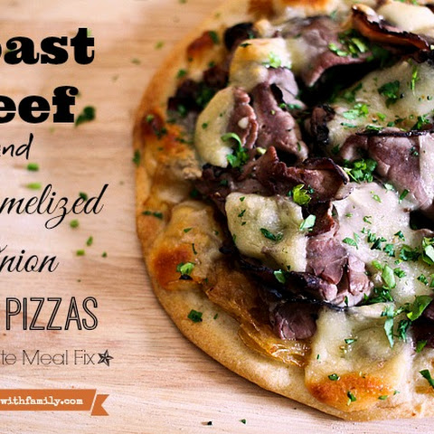 Roast Beef and Caramelized Onion Naan Pizza