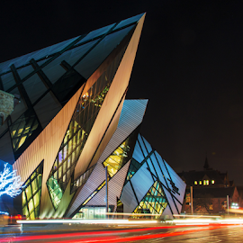 Royal Ontario Museum ROM in Toronto,Canada by Roberto Machado Noa - City,  Street & Park  Night ( exposure, tourist attraction, toronto, street, angular, road, architecture, entrance, attraction, city, modern, libeskind's crystal, interest, nighttime, trail, glass, dark, long exposure, place of interest, place, light, bloor, icon, rom, symbol, canada, gallery, libeskinds crystal, ontario, crystal, museum, extension, architect, urban, tourist, red, north america, traffic, facade, royal, contemporary, horizontal, popular, streaks, canadian, night, view, inconic, outside, large )