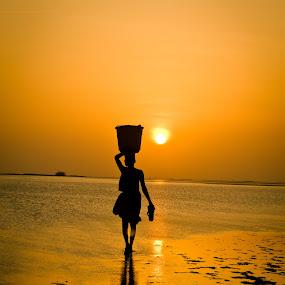 Early walk by Karthikeyan Chinnathamby - People Street & Candids ( , silhouette )