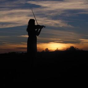 dívka s houslemi by Libuše Kludská - Landscapes Sunsets & Sunrises