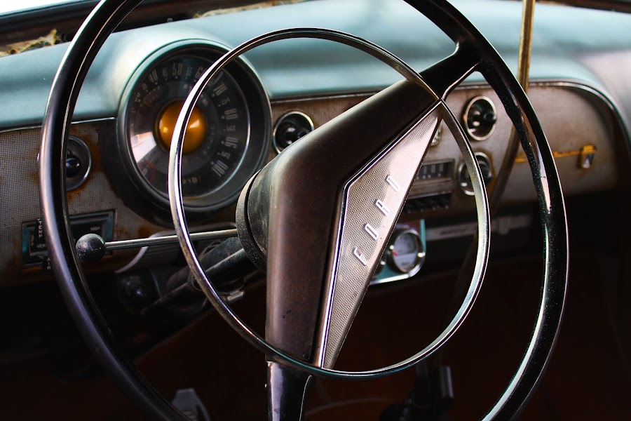 Ford by Jay Woolwine Photography - Transportation Automobiles ( classic car, automobile, column, steering wheel, ford )