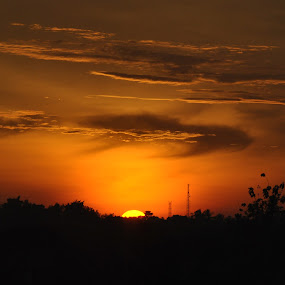 Sunset 020212 by Sandy Hmps - Landscapes Sunsets & Sunrises