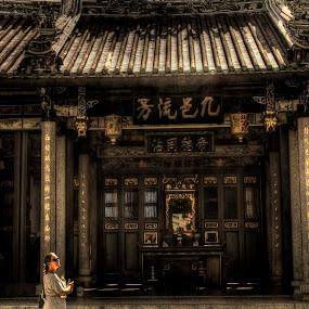Temple Tourist by Steven Chong - City,  Street & Park  Street Scenes