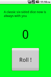 Dice number generator - screenshot
