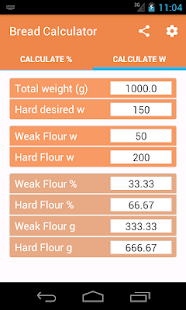Bread Calculator - screenshot
