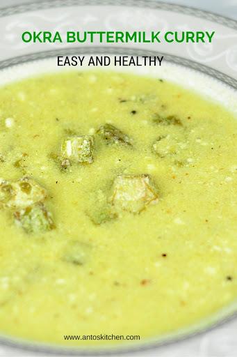 okra buttermilk curry
