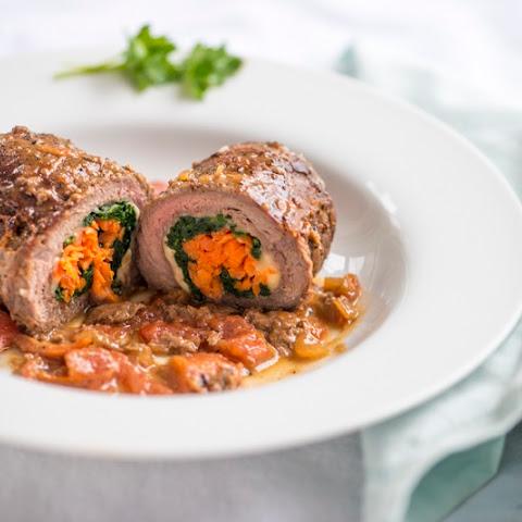Involtini Agli Spiniaci–Venison (or Beef) Spinach Roulades
