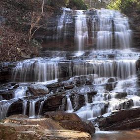 Pearson Falls by Mark Turnau - Landscapes Waterscapes ( water, nc, pearson falls.falls, waterfall, rocks )