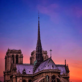 Notre Dame de Paris. by Gene Brumer - Buildings & Architecture Places of Worship ( castle, notre dame )