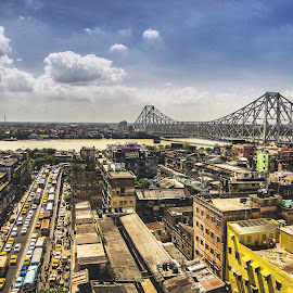 The Great Howrah Bridge by Biman Sarkar - Buildings & Architecture Bridges & Suspended Structures ( kolkata, ganges, bridge, bazar, howrah, city )