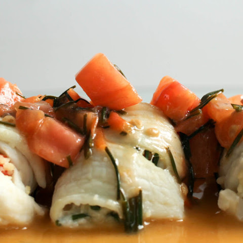 Stuffed Dover Sole with Brown Butter Sauce